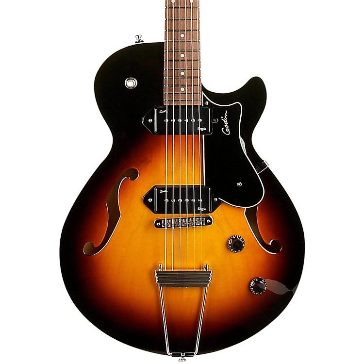 GodinMontreal Premiere P90 Semi-Hollow Electric GuitarSunburst