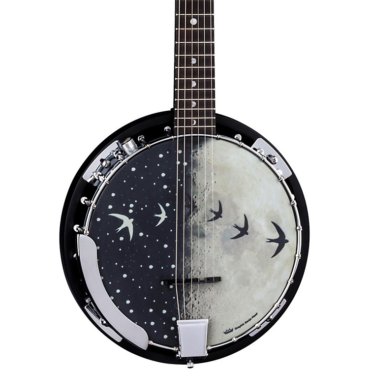 Luna Guitars Moonbird BGB 6-String Acoustic-Electric Banjo Satin Black