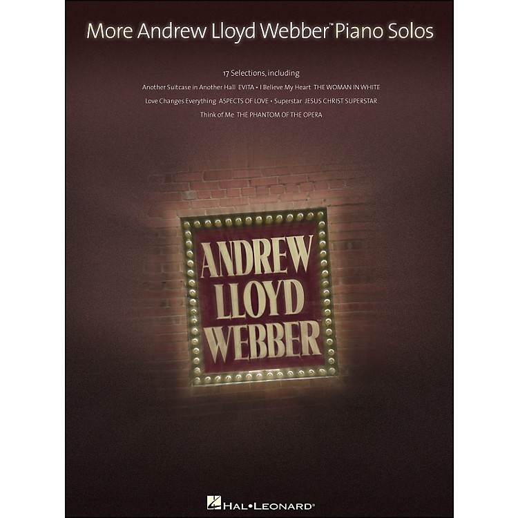 Hal LeonardMore Andrew Lloyd Webber Piano Solos
