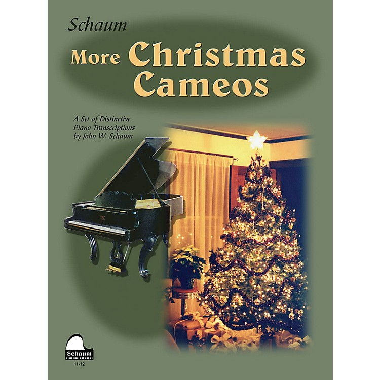 SCHAUMMore Christmas Cameos (Level 6 Early Advanced Level) Educational Piano Book