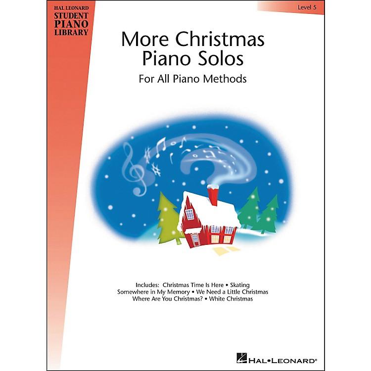 Hal LeonardMore Christmas Piano Solos Book 5 Hal Leonard Student Piano Library