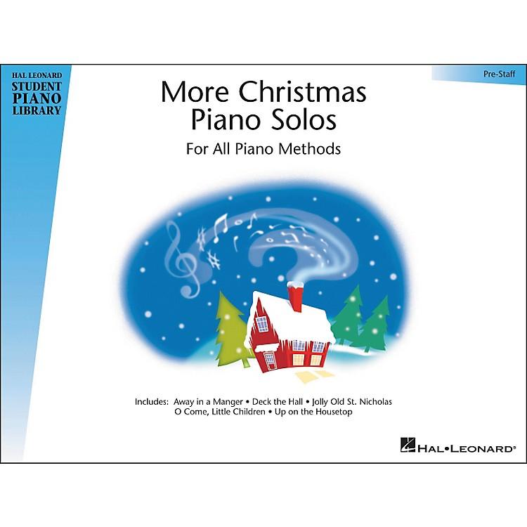 Hal LeonardMore Christmas Piano Solos Pre-Staff Hal Leonard Student Piano Library