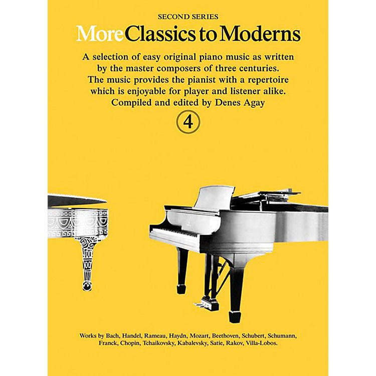 Music SalesMore Classics To Moderns - Second Series Book 4