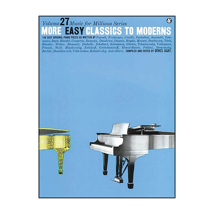 Music Sales More Easy Classics To Moderns By Denes Agay