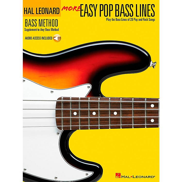 Hal Leonard More Easy Pop Bass Lines (Book/CD)