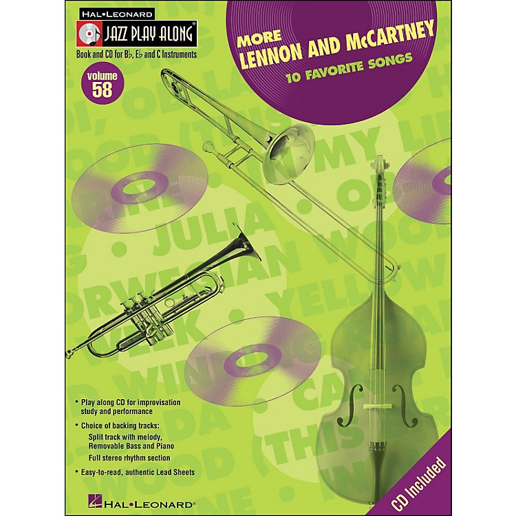 Hal Leonard More Lennon & McCartney Volume 58 Book/CD Jazz Play Along
