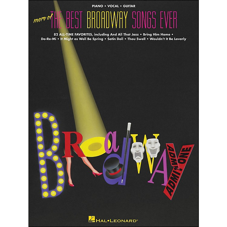 Hal LeonardMore Of The Best Broadway Songs Ever arranged for piano, vocal, and guitar (P/V/G)