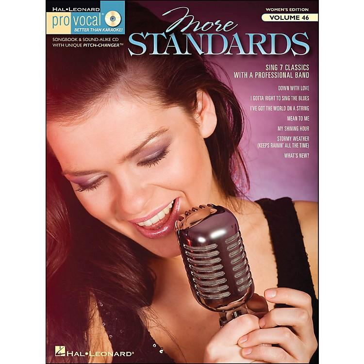 Hal LeonardMore Standards - Pro Vocal Songbook & CD for Female Singers Volume 46