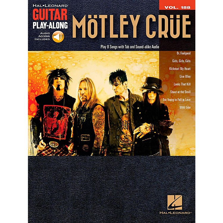 Hal Leonard Motley Crue - Guitar Play-Along Vol. 188 Book/Online Audio