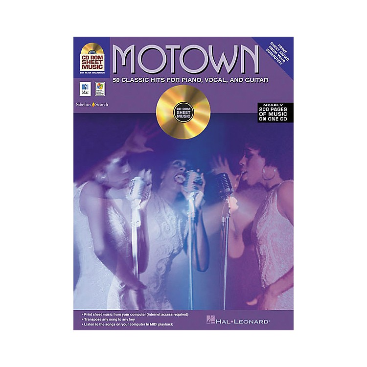 Isong Motown - 50 Classic Hits for Piano/Vocal/Guitar (CD-ROM)