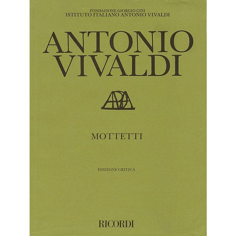 RicordiMottetti (Motets) Study Score Series Composed by Antonio Vivaldi Edited by Paul Everett