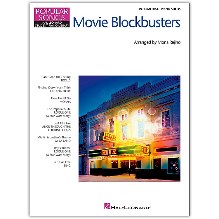 Hal LeonardMovie Blockbusters - Popular Songs Series - 8 Great Arrangements for Intermediate Piano Solo