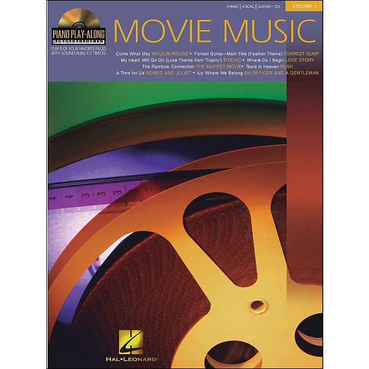 Hal Leonard Movie Music Piano Play-Along Volume 1 Book/CD arranged for piano, vocal, and guitar (P/V/G)