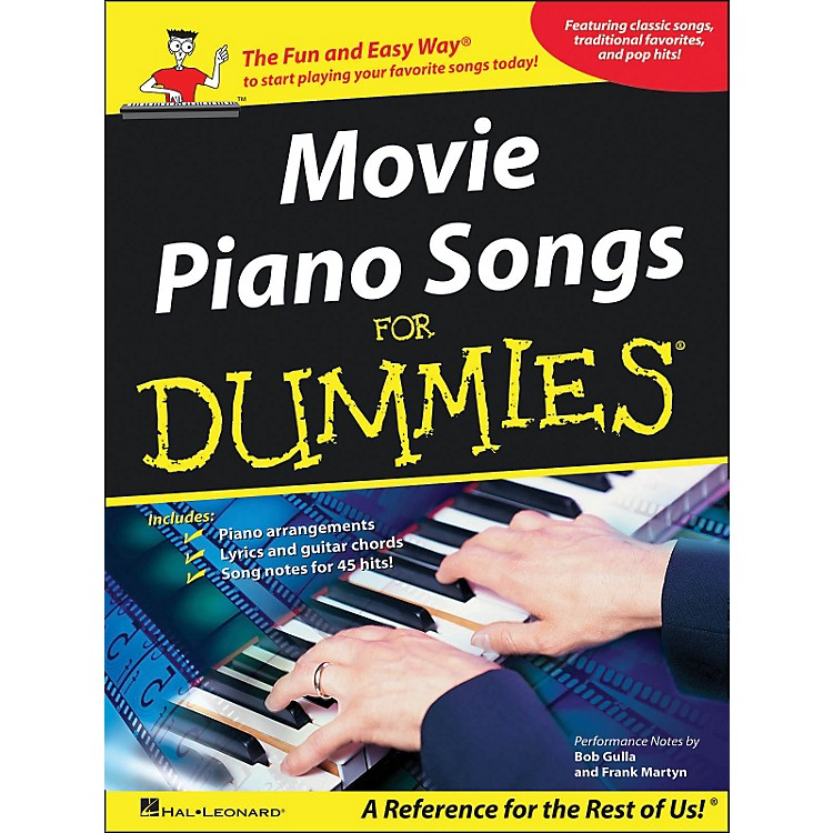Hal LeonardMovie Piano Songs for Dummies arranged for piano, vocal, and guitar (P/V/G)