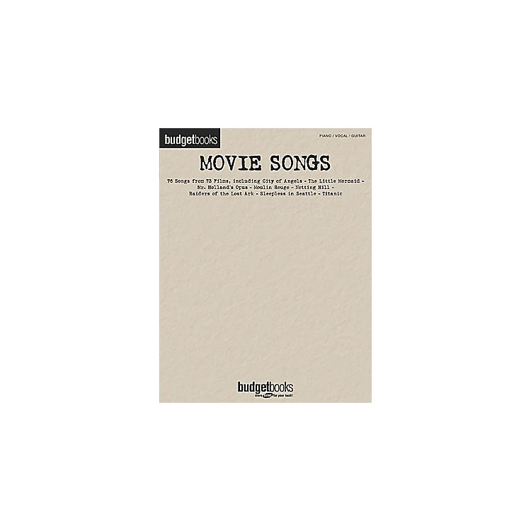 Hal Leonard Movie Songs Piano/Vocal/Guitar Songbook