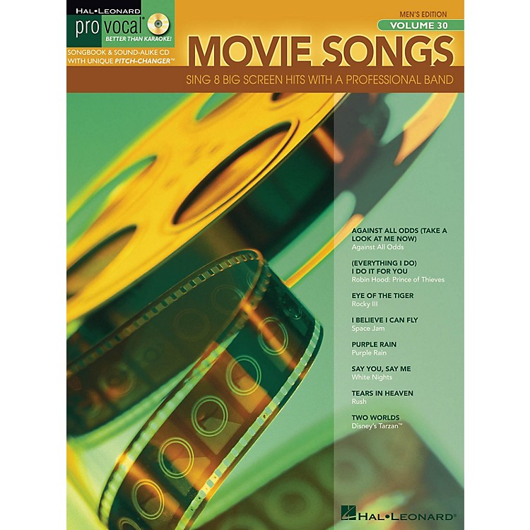 Hal LeonardMovie Songs (Pro Vocal Men's Edition Volume 30) Pro Vocal Series Softcover with CD Composed by Various