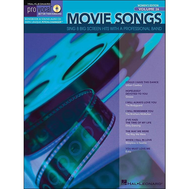Hal LeonardMovie Songs Pro Vocal Series Women's Edition Volume 26 Book/CD