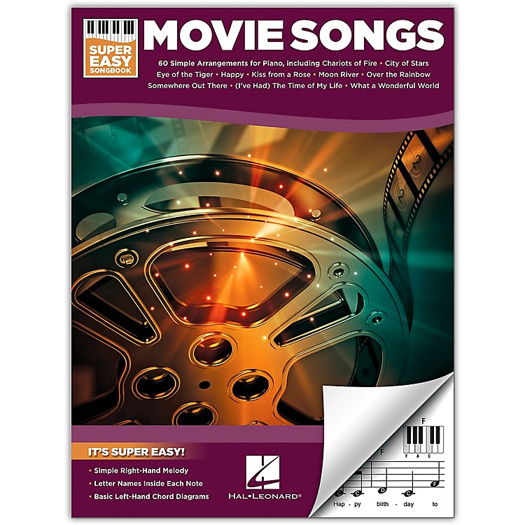Hal LeonardMovie Songs-Super Easy Songbook for Piano