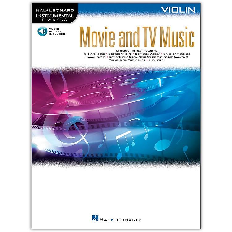 Hal LeonardMovie and TV Music for Violin Instrumental Play-Along Book/Audio Online