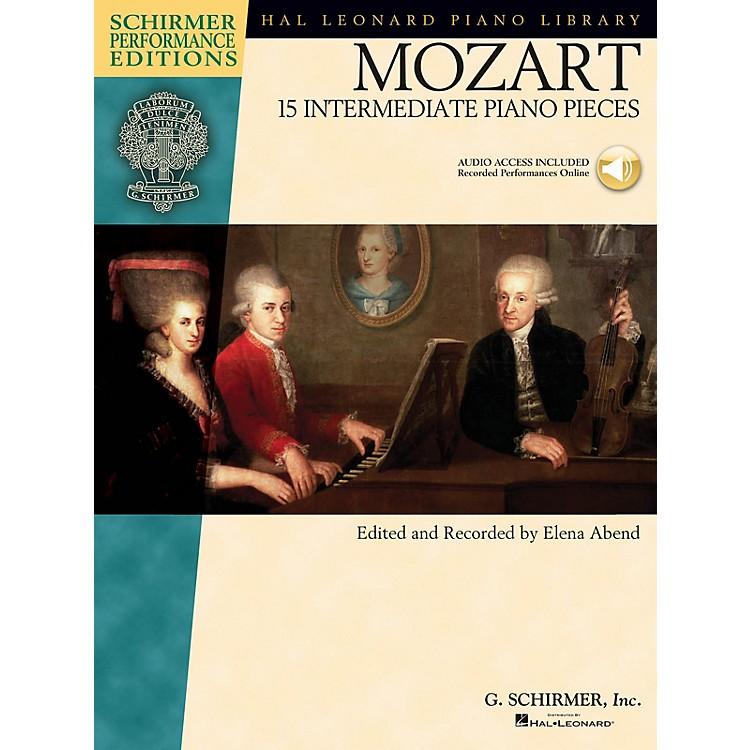 G. SchirmerMozart - 15 Intermediate Piano Pieces Schirmer Performance Editions Book/Audio Online (Intermediate)