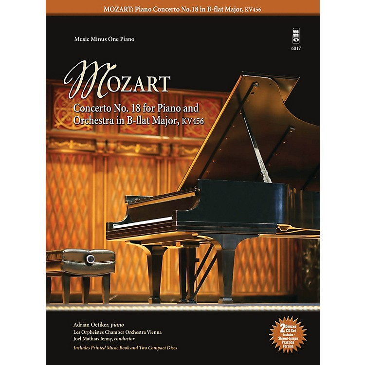 Music Minus OneMozart - Concerto No. 18 for Piano and Orchestra in B-flat Major, KV456 Music Minus One Softcover with CD