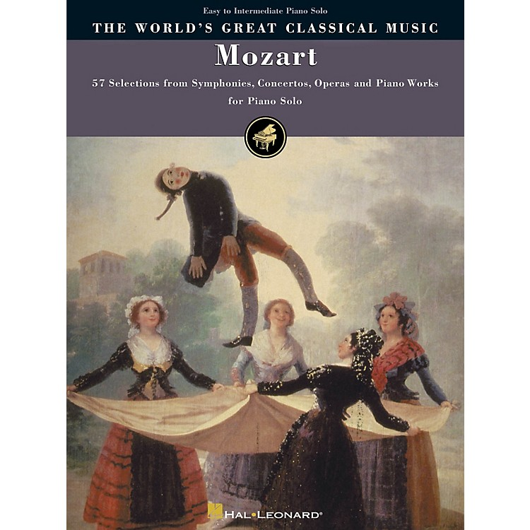 Hal Leonard Mozart - Simplified Piano Solos World's Greatest Classical Music Series (Intermediate)