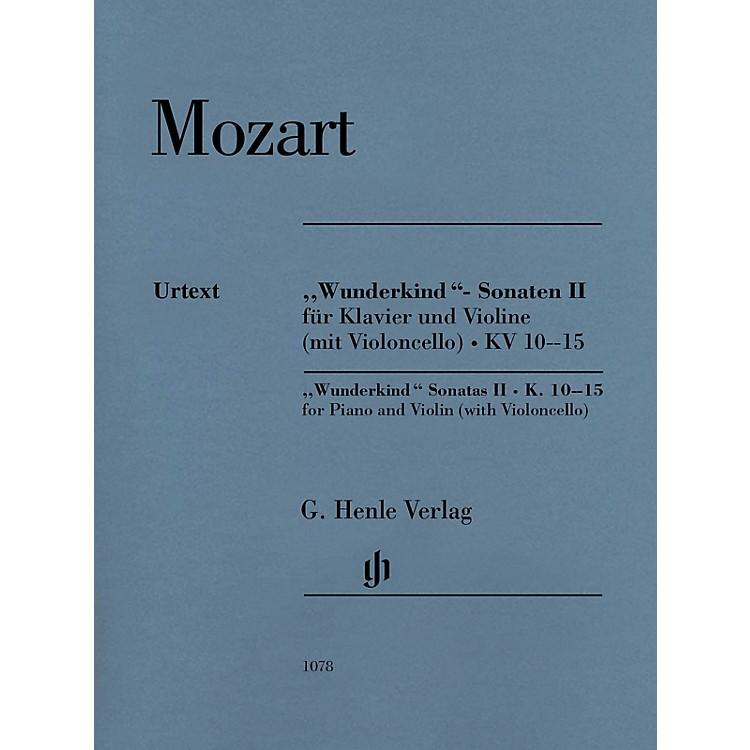 G. Henle VerlagMozart - Wunderkind Sonatas, Vol 2, K. 10-15 Henle Music by Mozart Edited by Wolf-Dieter Seiffert