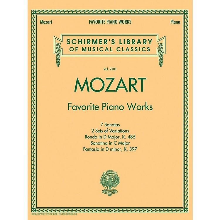 G. SchirmerMozart  Favorite Piano Works Schirmer's Library of Musical Classics Vol. 2101