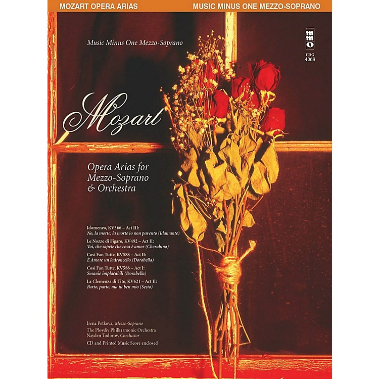 Music Minus OneMozart Opera Arias for Mezzo-Soprano and Orchestra Music Minus One Softcover with CD by Mozart