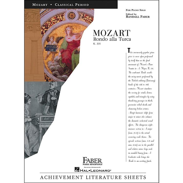 Faber Piano AdventuresMozart Rondo Alla Turca K331 Piano Solo - Faber Piano