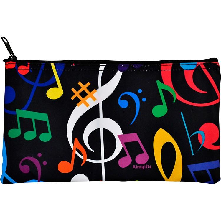AIMMulti Color Music Note Zipper Pouch