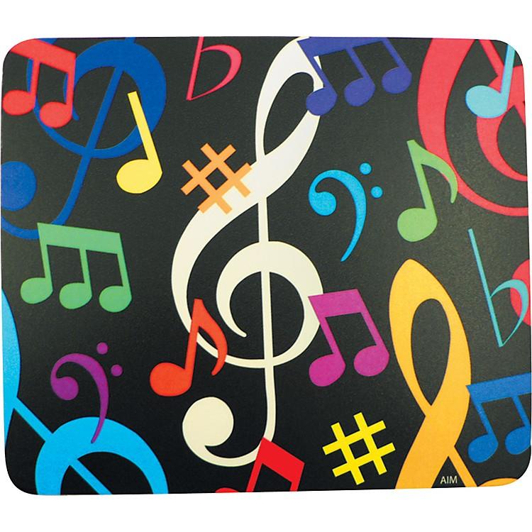 AIMMulti-Color Music Notes Mousepad