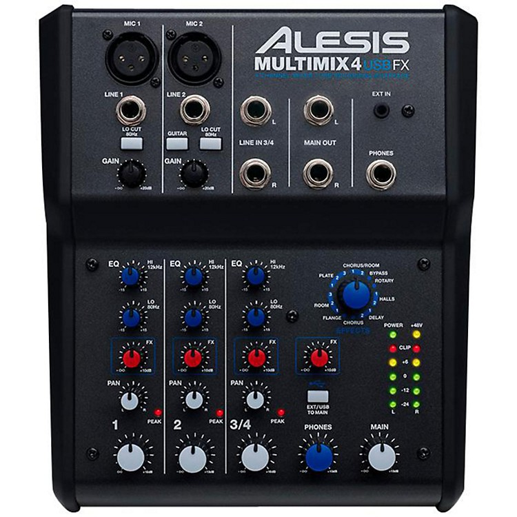 AlesisMultiMix 4 USB FX 4-Channel Mixer with Effects & USB Audio Interface