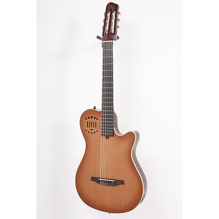 Godin Multiac Grand Concert Duet Ambiance Nylon String Acoustic-Electric Guitar High Gloss Lightburst 886830706714