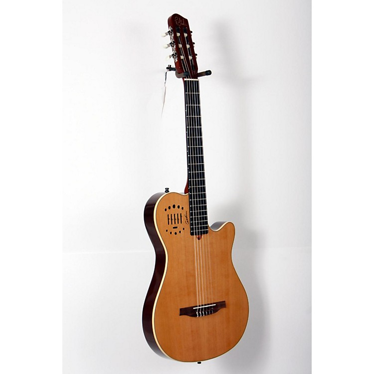 Godin Multiac Grand Concert Duet Ambiance Nylon String Acoustic-Electric Guitar High Gloss Natural 888365804262