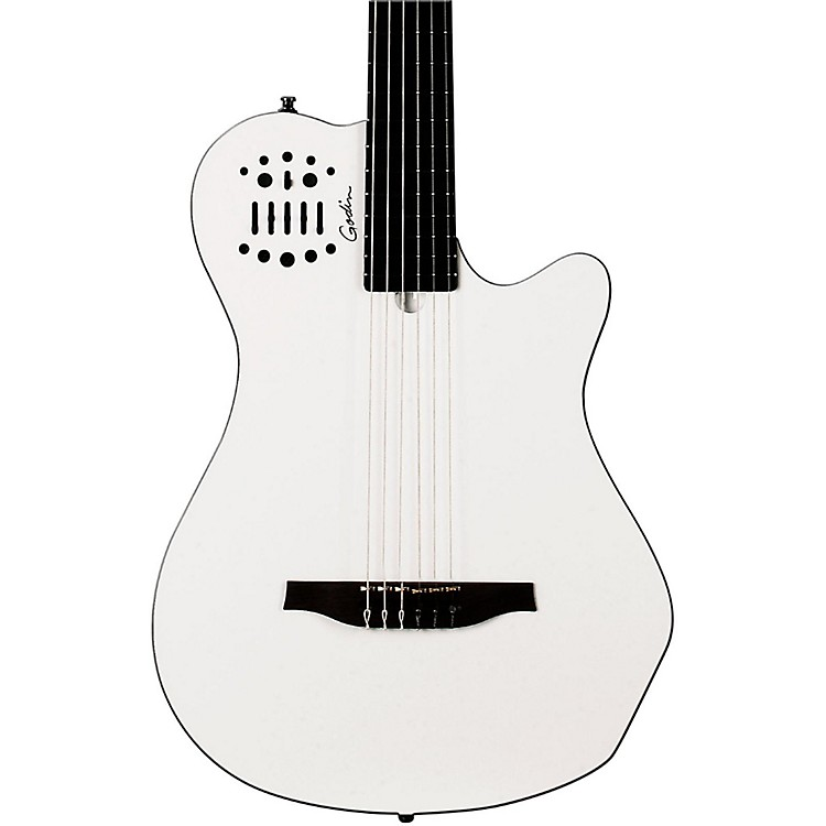 Godin Multiac Grand Concert SA Nylon-String Acoustic-Electric Guitar White