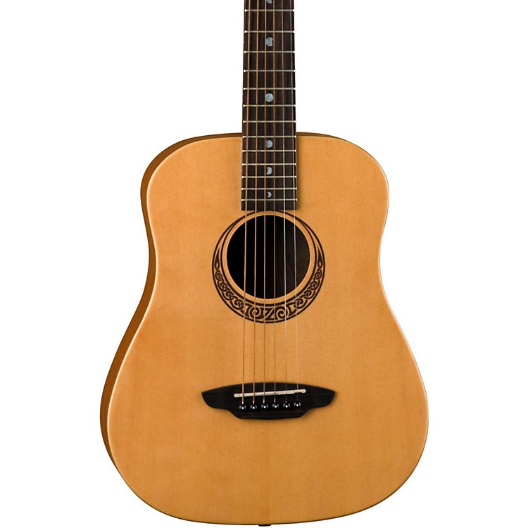Luna Guitars Muse Safari Series Spruce 3/4 Dreadnought Travel Acoustic Guitar Natural