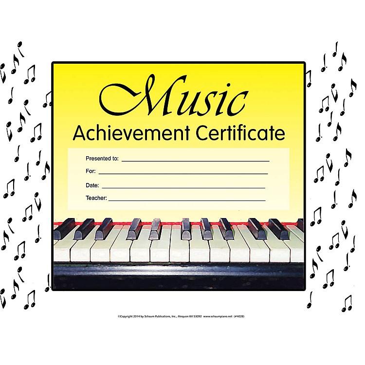 SCHAUMMusic Achievement Certificate Educational Piano Series
