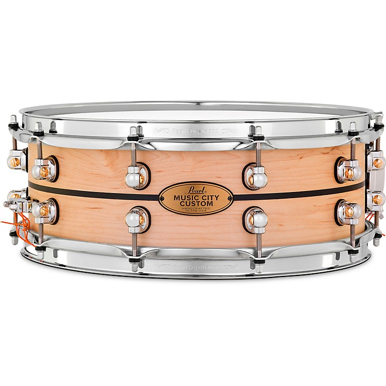 PearlMusic City Custom Solid Shell Snare Maple with Ebony Inlay14 x 5 in.