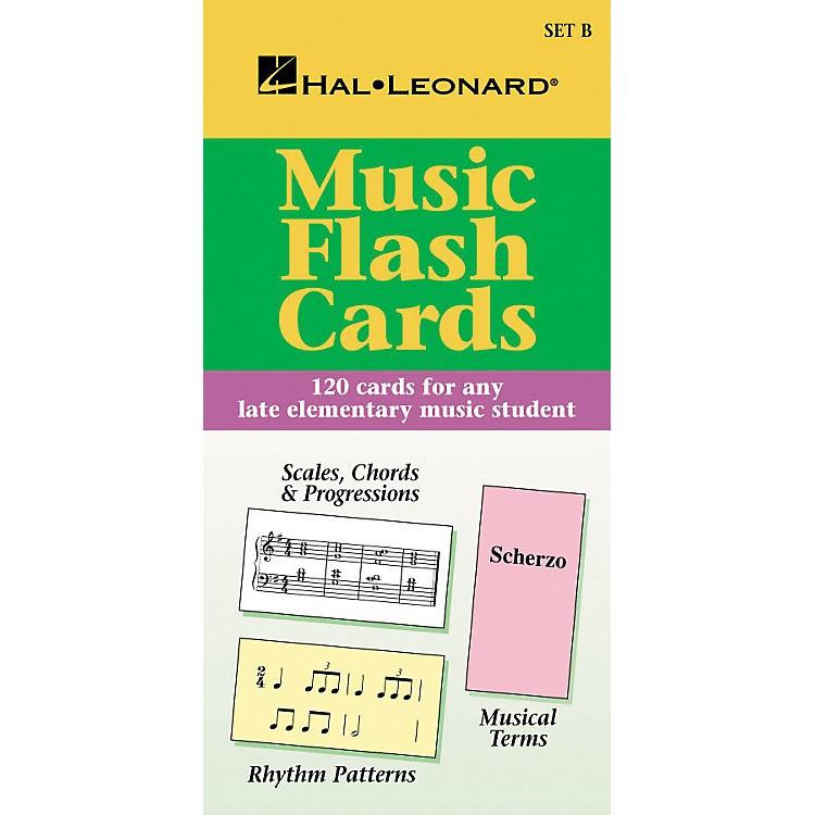 Hal LeonardMusic Flash Cards Set B Hal Leonard Student Piano Library