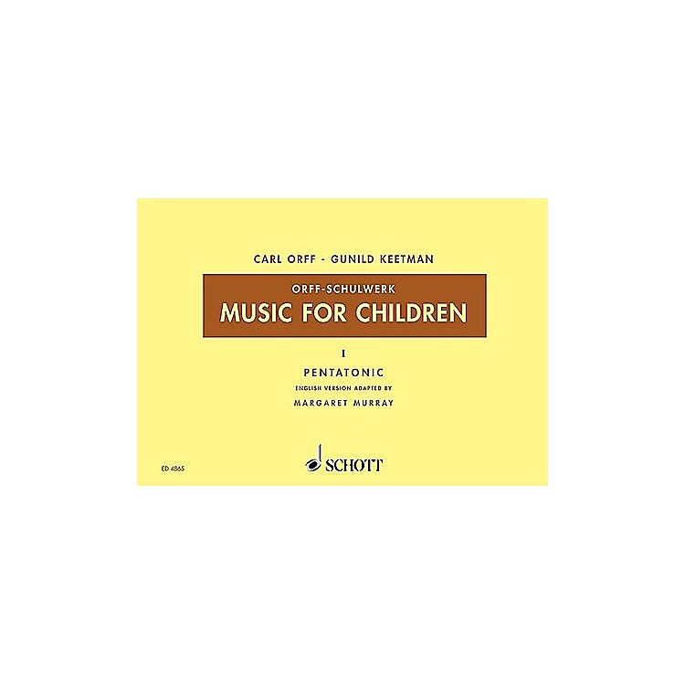 SchottMusic For Children Vol. 5 Minor - Dominant and Subdominant Triads by Carl Orff arr by Keetman/Murray