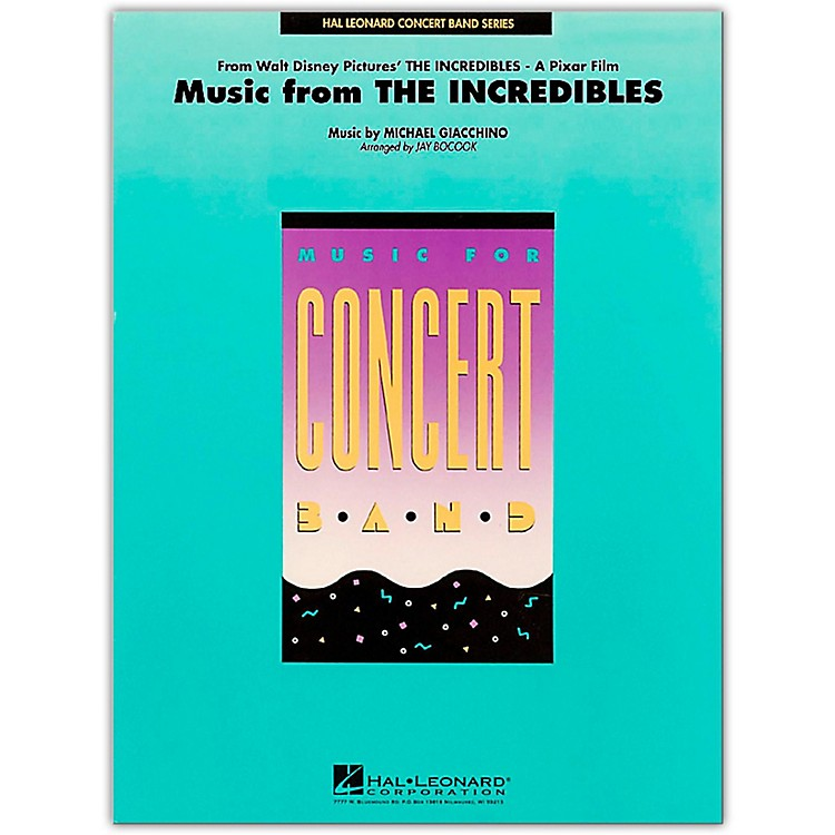 Hal LeonardMusic From The Incredibles - Concert Band Level 4 - 5