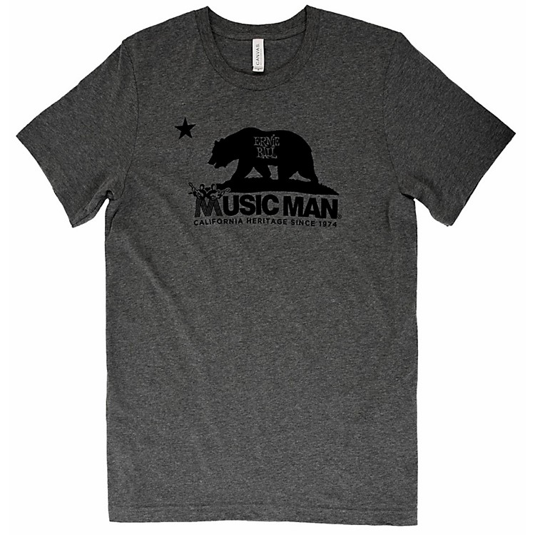 Ernie Ball Music Man Music Man Bear T-Shirt Large Heather Gray