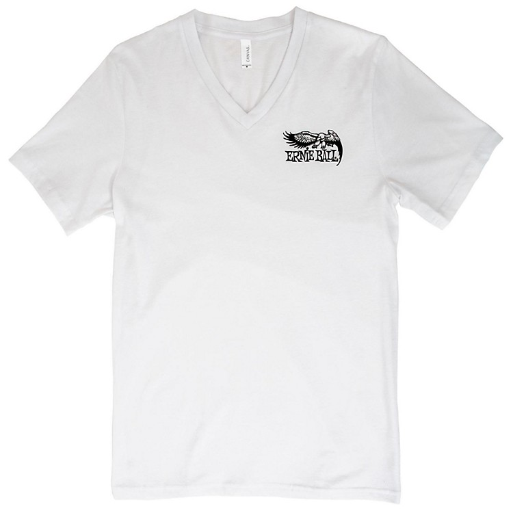 Ernie Ball Music Man Eagle V-Neck T-Shirt Medium White