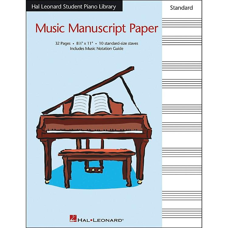 Hal LeonardMusic Manuscript Paper Standard Size Staves 8.5 X 11 Hal Leonard Student Piano Library