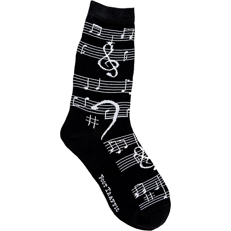 Foot Traffic Music Notes Women's Socks
