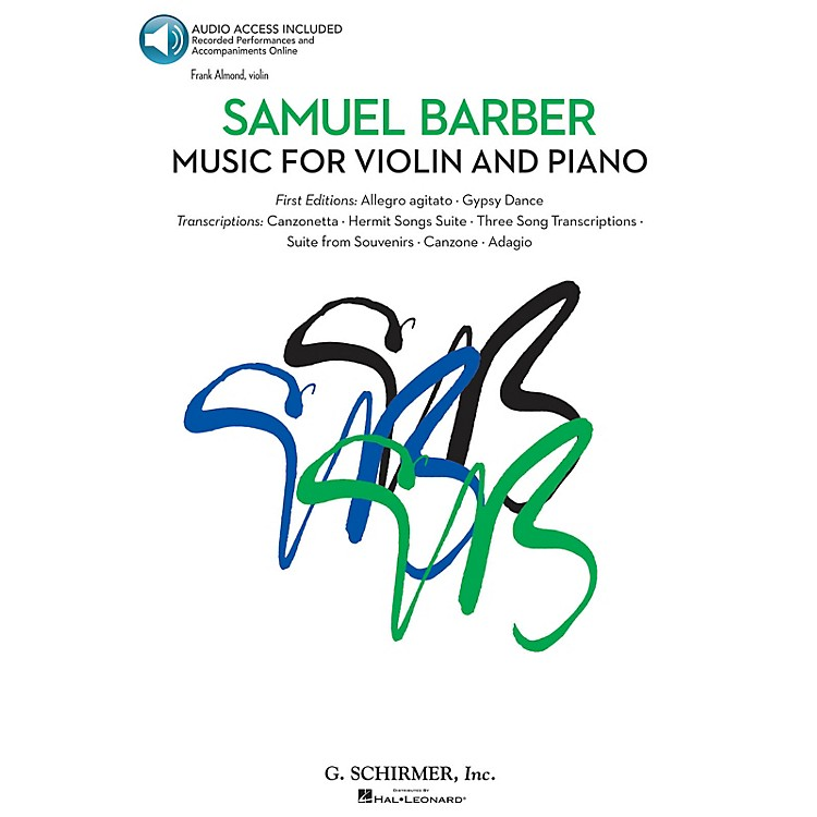 G. SchirmerMusic for Violin and Piano String Solo Series Softcover Audio Online Performed by Frank Almond