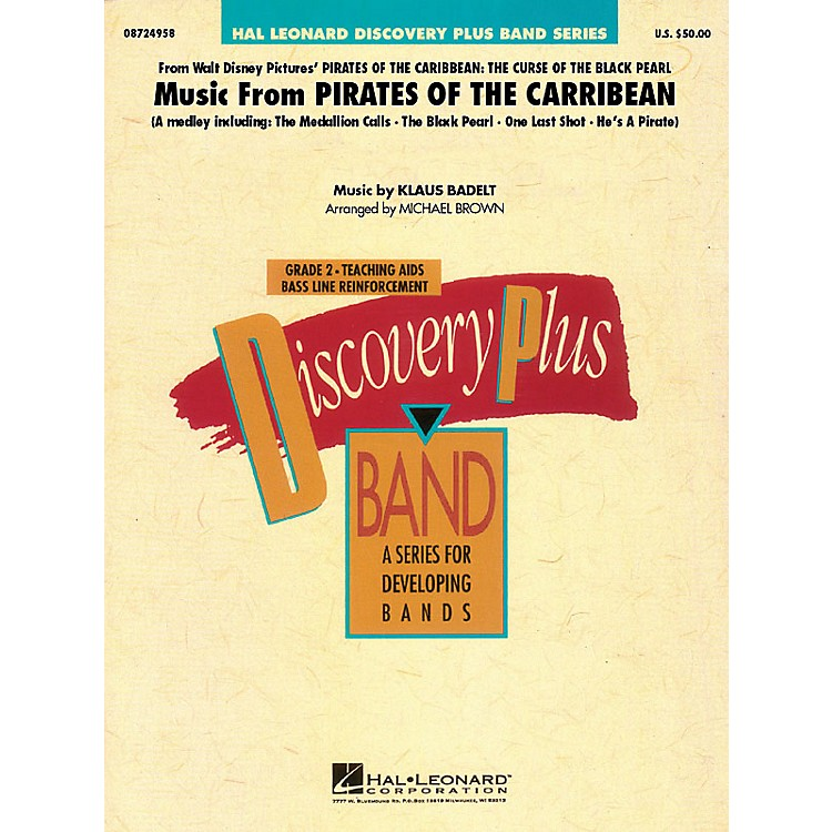 Hal LeonardMusic from Pirates of the Caribbean - Discovery Plus Band Series Level 2 arranged by Michael Brown