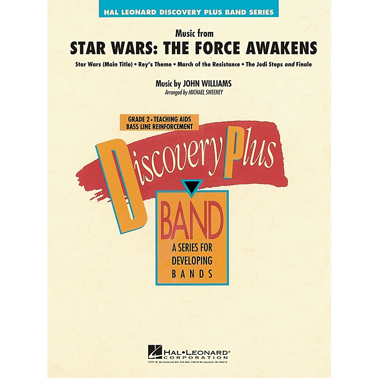 Hal LeonardMusic from Star Wars: The Force Awakens Concert Band Level 2.5 Arranged by Michael Sweeney