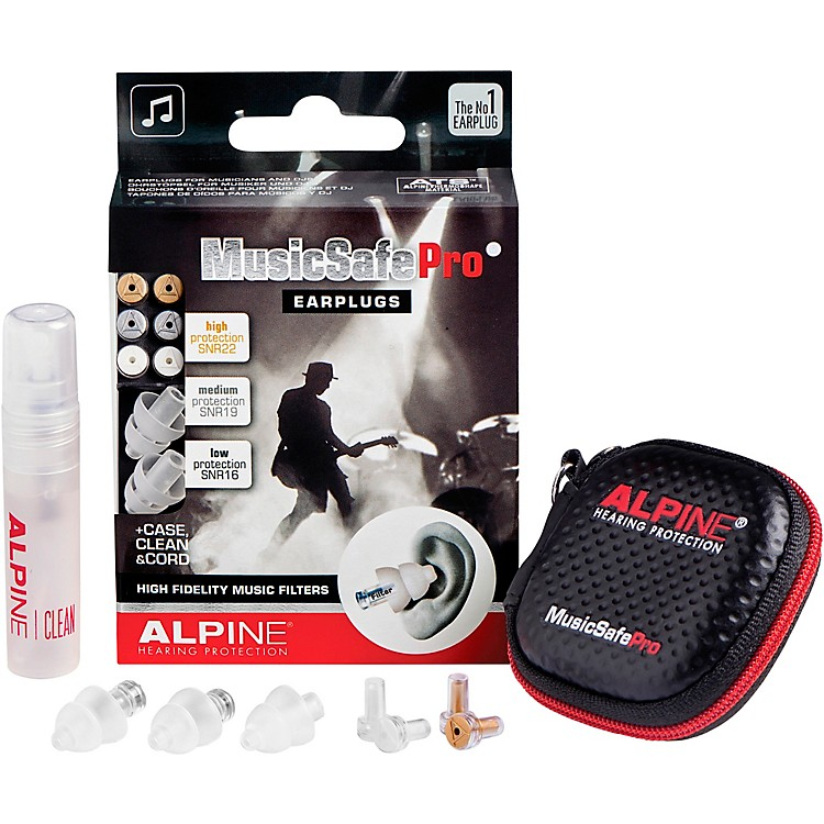 Alpine Hearing Protection MusicSafe Pro Earplugs (Transparent)